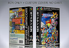MEGAMAN X 2. JAPAN VERSION. Box/Case. Super Nintendo. BOX + COVER. (NO GAME)