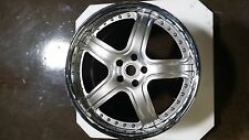 """MODULARE M7 BRUSH 3 PIECE FORGED 19"""" WHEEL SET ONLY FOR FERRARI F430 & 360"""