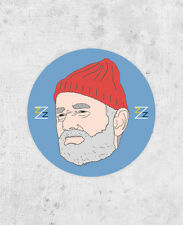 Seve Zissou Sticker! Life Aquatic, bill murray, team zissou, wes anderson laptop