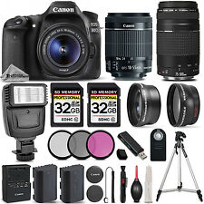 Canon EOS 80D DSLR Camera with 18-55mm STM Lens + Canon 75-300 III - 64GB KIT