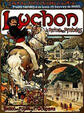 TRAVEL TOURISM LUCHON PYRENEES HOTEL CASINO HORSE SPA FRANCE LV4216