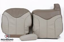 01 GMC Sierra 1500 C3 Denali-Driver Side Complete Leather Seat Covers 2-Tone Tan