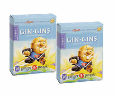 THE GINGER PEOPLE GIN GINS CARAMEL GINGER CHEWS 2x31g - GLUTEN FREE