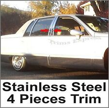 93-96 95 94 Cadillac Fleetwood 4Pc Stainless Pillar Post