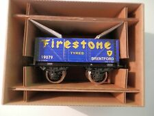 Wagon tombereau Firestone  Bassett-Lowke O (train Hornby, Bing, Jep etc.)