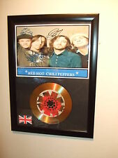 RED HOT CHILI PEPPERS  SIGNED FRAMED GOLD CD  DISC   443