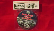 """2004 Hess Sport Utility Vehicle Truck 3"""" Pin Back Button Repackaged New 136"""