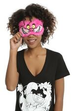 Disney Alice In Wonderland Cheshire Cat Fuzzy Sleep Eye Mask Gift New With Tags!
