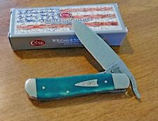 CASE XX New Jade Green Smooth Bone Handle Single Blade Russlock Knife/Knives