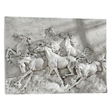 Wild Feral Horses Mustang Wall Hanging Statue Art Running Horse Western Decor
