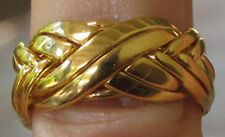 18K SOLID YELLOW GOLD 8 BAND PUZZLE RING HANDMADE  CUSTOM MADE TO YOUR SIZE