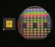 "6"" Silicon wafer collectors set -R4400 MIPS CPU full wafer and packaged chip."