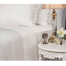 CONTESSA WHITE Guipure Lace Sheet Set King Size Bed By PRIVATE COLLECTION NEW
