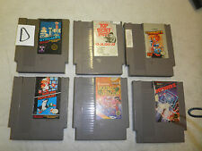 6 GAME LOT NES GOLGO 13 GYROMITE GOONIES II SUPER MARIO DOUBLE DRAGON DEFEND #D