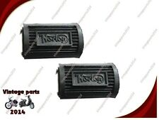 PAIR OF NORTON PEDAL TYPE FOOTREST RUBBER ASSEMBLY