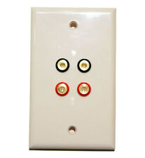 Banana Plug Jack Wall Plate for Home Stereo Theater Speaker Solder Terminal