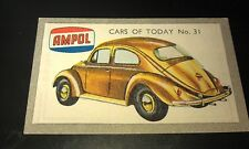1958 VW Volkswagen BEETLE  Australian AMPOL Oil Swap Card