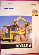 ✪ viejo folleto original/sale brochure Komatsu Truck hd325-6 Dump Truck