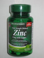 Zink mit Kupfer High Strength Chelated Zinc 15mg with Copper 120 Tablets