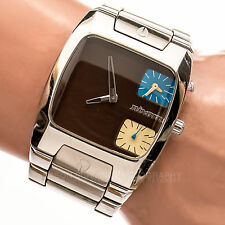 NIXON COUNT IT THE BANKS 100m Brown Dual Time Dial Working Men's Watch 627