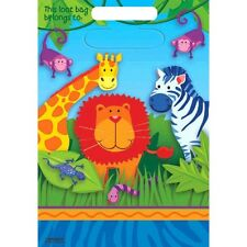 Jungle Animals Party Supplies Loot Bags Lolly Bags Genuine Licensed