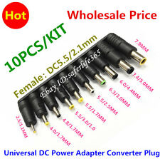 Laptop Portable Battery Power Adapter Plug Cord Universal Converter Cord 10/kit