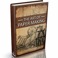 The Art of Papermaking Books on DVD Wood Pulp Hand Made Dying Pressing Deckle
