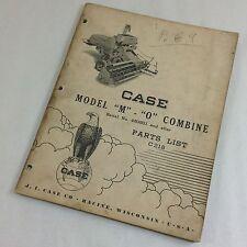 J I CASE MODEL M - O COMBINE S/N 450501 & UP PARTS LIST CATALOG MANUAL C 218