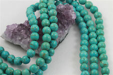 """16"""" Howlite Turquoise Loose Beads Round 10mm TURQUOISE GREEN"""