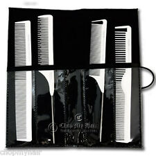 Niso Carbon Anti-Static Heat & Chemical Resistant 4pc Pro Combs Kit Set White