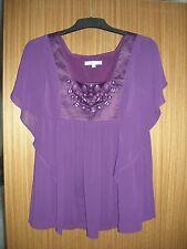 Nouveau m% collection violet mousseline femme taille s