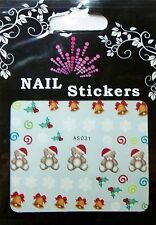 Christmas, Water Nail Sticker Tatoo, Weihnachten , AS031