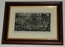 Print over 80 years old Battle of Lepanto Turkey   (also available unframed)