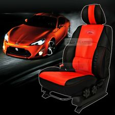 Sports Bucket Seat Cushion Cover Leather Red For HYUNDAI 2011-2016 Elantra / MD