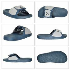 NIKE JORDAN MEN'S HYDRO 3 SPORT ATHLETIC SANDAL FLIP FLOPS BLUE BLACK GREY 13