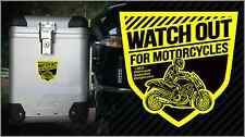 Watch Out for Motorcycles Vinyl Sticker (3 x 3) Motorcycle Awareness Designs