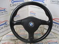 BMW E36 Z3 M-Tech 2 Mtech M3 Sport Steering Wheel 370mm Black Leather