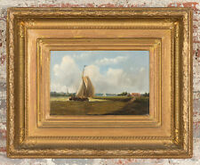 19th century Dutch School - Sail Boat - Oil Painting