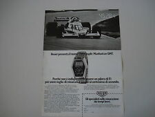 advertising Pubblicità 1978 CRONOGRAFO HEUER CHRONOSPLIT MANHATTAN GMT