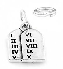 SILVER TEN COMMMANDMENTS TABLET CHARM WITH SPLIT RING