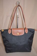 Longchamp Le pliage Black Shopping  Shoulder Bag Tote Purse Large