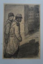 """STEINLEN (1859/1923) Litho WW1 - """" CHIENS ERRANTS  1917""""   - Signé"""