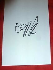 CLIFF RICHARD SIGNED 6X4 WHITE CARD MUSIC AUTOGRAPH THE SHADOWS 100% GENUINE
