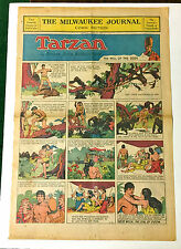 1933 FULL PAGE COLOR TARZAN SUNDAY PAGE MILW JOURNAL 4-23-1933 RARE