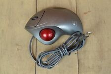 Logitech T-BB18 Ball Mouse Trackball Wheel Used Gray USB