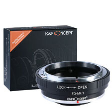 K&F Canon FD Lens Mount Adapter to Micro 4/3 M4/3 M43 for Camera GF1 GF2 GH2 GF2