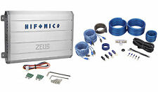 Hifonics Zeus ZRX1016.4 1000 Watt 4-Channel Car Stereo Amplifier + Amp Kit