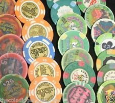 FIVE ✯ POKER CHIPS ✯ GENUINE ✯ COLLECTION ✯ BLOWOUT SALE ALMOST 200 CASINO'S
