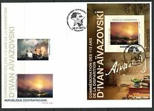 CENTRAL AFRICA 2015  115TH  MEMORIAL IVAN AIVAZOVSKI   PAINTINGS  S/SHEET   FDC