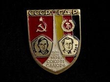 USSR Interkosmos Program. USSR-GDR Joint Space Mission Soviet Pin Badge 1978